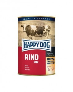HAPPY DOG Rind Pur z wołowiną 400 g